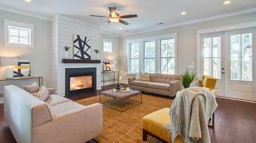 Living area of Creekside floor plan by Stanley Martin Homes in Charleston, SC.