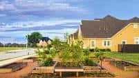 Harvest Green, a wellness community created by Johnson Development near Houston, Texas hosts a community garden for residents.