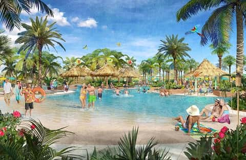 Rendering of the Paradise Pool at Latitude Margaritaville in Hilton Head, North Carolina