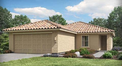 The Jerome Plan at Discovery at Rancho Bella Vista by Lennar in San Tan Valley, Arizona