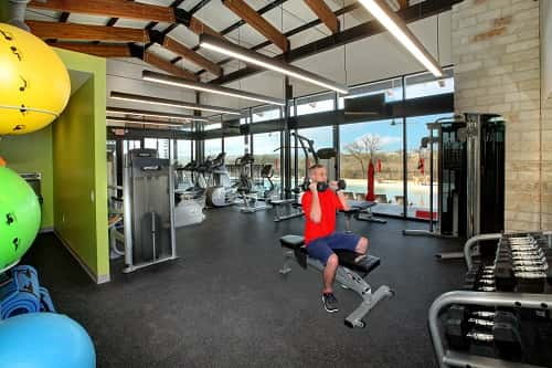 Among the amenities at Whisper Valley is a clubhouse with a gym (Kelly Hanson)