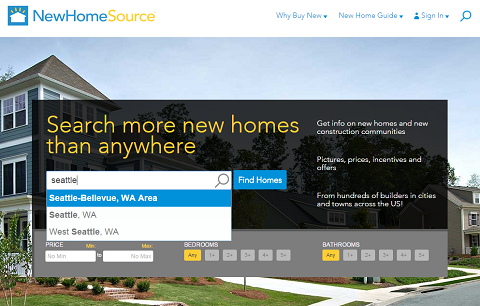 Getting the most out of newhomesource for New source homes