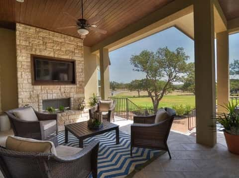 Maidstone by David Weekley Homes at Patterson Court in Austin, Texas. Image courtesy of David Weekley Homes