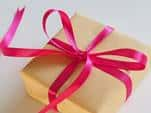 gift wrapped with pink ribbon