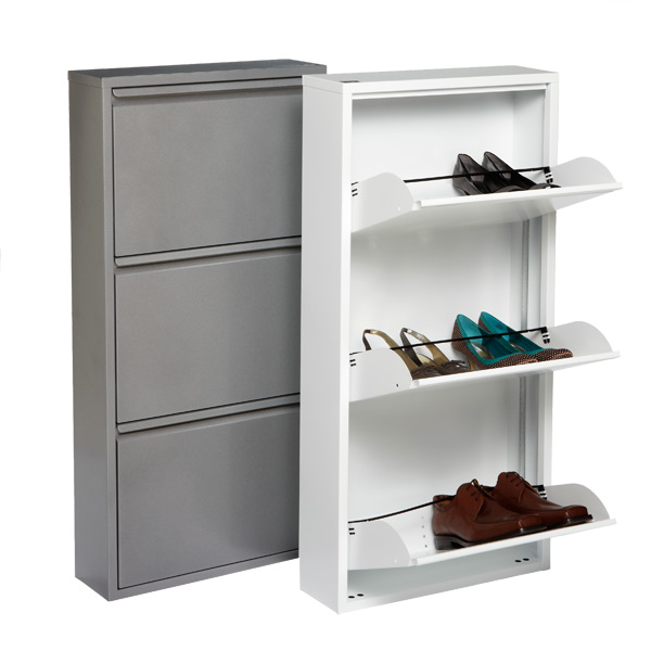 Not enough room for all of your shoes? The Container Store's 3-Drawer Shoe Cabinet will help you file your shoes and save space in your closet. You can keep the drawers open to have your shoes readily accessible and on display or you can close the drawers to keep your shoes out of sight.<br /> <br /> The 3-Drawer Shoe Cabinet will help you make sure your shoes don't just end up in a pile that is a tripping hazard in your closet. It will be nearly impossible for your shoe to lose its mate too! This cabinet is a great alternative to the sometimes-tacky looking shoe rack hanging on your door.<br /> <br /> The Container Store, $119.