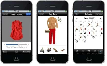 "Stylebook is an iPhone app that can help you keep your closet organized, even when on the go.<br /> <br /> Jess Moore, co-founder of Stylebook and a former Vogue magazine fashion closet intern, told NewHomeSource all about this revolutionary app:<br /> <br /> ""Stylebook lets you plan outfits using real images of your own clothes. You can import images of your actual clothes, create outfit collages, schedule what you're going to wear on the calendar feature and even get statistics on how you wear your clothes. It's a great investment that will help you get the most out of your wardrobe and, hopefully, prevent you from tossing clothes all over your closet in the morning.""<br /> <br /> iTunes App Store, $3.99."