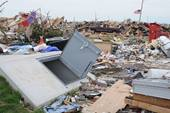 An underground tornado shelter shown shortly after the 2013 tornado in Moore, Ok. (George Amrstrong, FEMA)