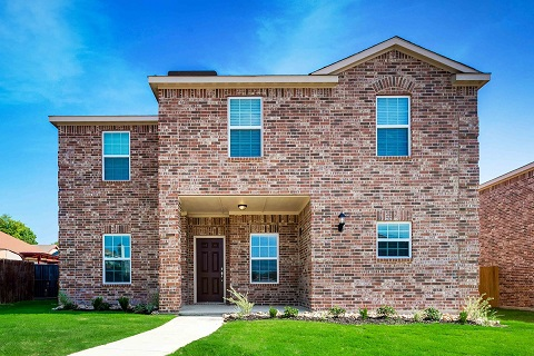 A brick exterior is a classic look for the Conley Plan by LGI Homes. Located at the Brierwood Heights community in Dallas.