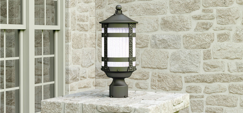 "As an example, the Casa Grande Collection uses old-world styling in a durable die-cast aluminum finish to create a forged iron look with a modern twist. That rustic design contrasts nicely with the effect created by the ribbed constellation glass.<br /> <br /> ""Selecting the correct size outdoor fixture strikes a balance between proportions and light output,"" advises Sperling. ""Two front door fixtures should measure a quarter of the height of the door. Mount fixtures slightly above eye-level, approximately 66 inches above the threshold of a typical door."""