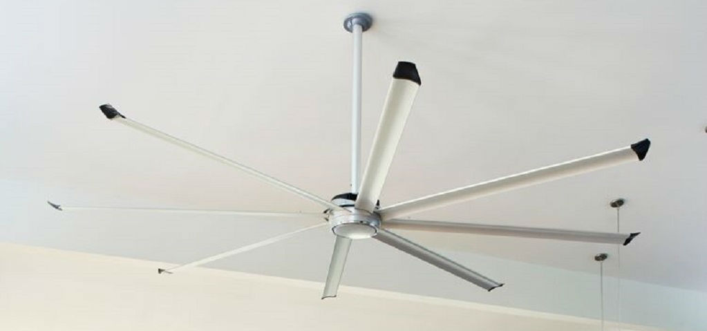 <p>The Essence ceiling fan is supposed to make people take notice. And not just for its size. Ranging from 8 to 14 feet in diameter, the Essence, like the Isis, is designed to run silently and move large quantities of air efficiently over a large space. It can do this both inside, such as in great rooms or home theaters, or outside over a patio or gazebo. With its aluminum airfoils, the Essence is available in 10 different colors, plus two wood-grain options, or even a custom color.</p> <p >PHOTO COURTESY OF<br /> Big Ass Fans</p>