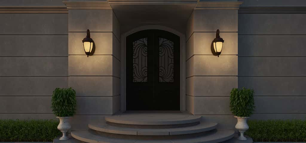"One of Maxim's most successful collections, the Knob Hill series features fixtures in a Traditional European style finished in Sienne with seedy or frosted glass. It has a variety of lamping options like LED, incandescent and fluorescent. It can also be outfitted as Vivex for extreme weather protection.<br /> <br /> ""Enhance your home's curb appeal with wall lanterns on each side of the front door for a warm welcome and added safety,"" says Sperling."