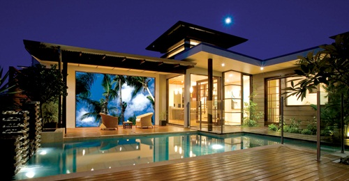 The latest in outdoor tv and sound newhomesource for Pool design tv show
